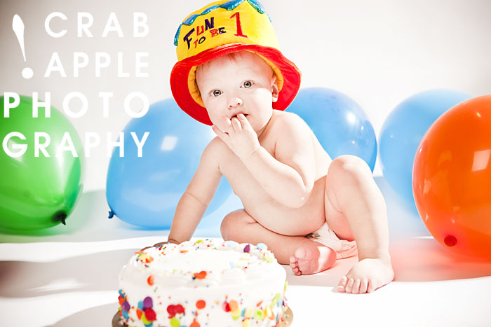 First Birthday Photos And Cake Smash Portrait Crabapple Photography