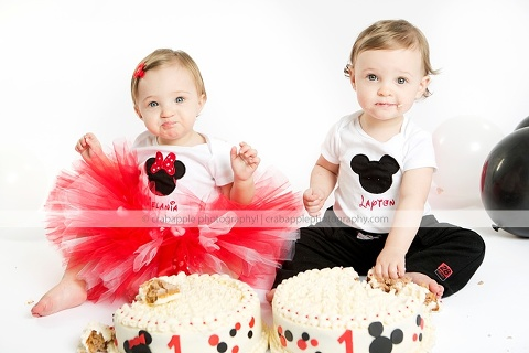 55d61740e Cake Smash Twin 1 Year Olds :: Lynnfield, MA · Crabapple Photography