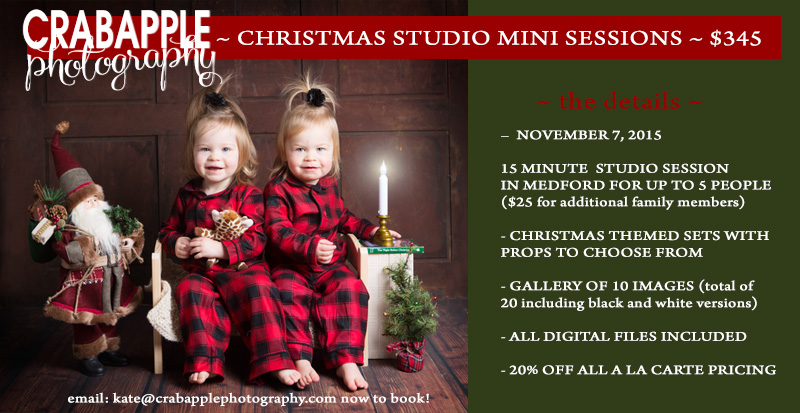 Announcing 2015 Boston Fall And Christmas Mini Sessions