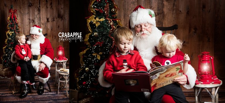 Childrens Christmas Portraits Ideas Santa NO MALL Do You Remember Going To The Mall Sit On Santas Lap Getting Dressed Up Driving All Way