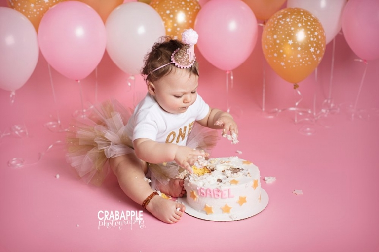 Andover One Year Portraits Miss Is Cake Smash Crabapple