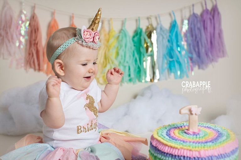 Baby Photographer Andover MA Miss Bs Cake Smash Crabapple