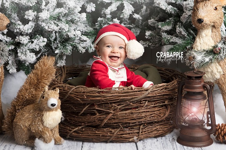 Baby Christmas Card Pictures Massachusetts Photographer
