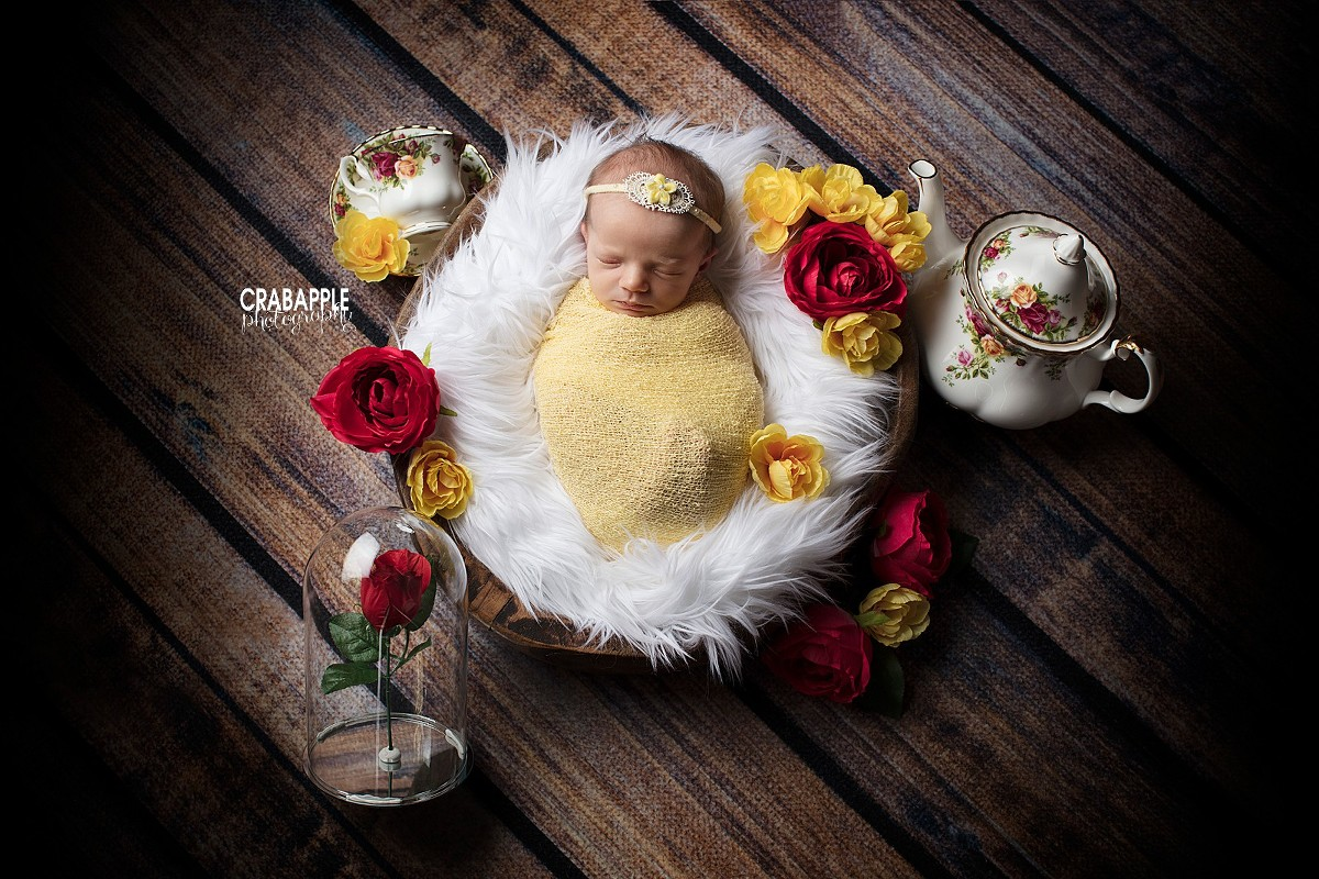 Disney Princess Newborn Photos Miss M Crabapple Photography